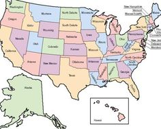 Regions Of The United States Maps Printables Quiz Test Etc - United states map initials