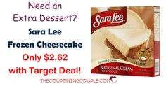 HOT TARGET DEAL! Get Sara Lee Frozen CheeseCake for only $2.62 (reg $5.29) Perfect for dessert!  Click the link below to get all of the details ► http://www.thecouponingcouple.com/sara-lee-frozen-cheesecake/ #Coupons #Couponing #CouponCommunity  Visit us at http://www.thecouponingcouple.com for more great posts!