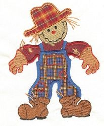 Scarecrow Applique - 2 Sizes! | Fall | Machine Embroidery Designs | SWAKembroidery.com Designs by Juju