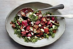 Pistachio And Beet Salad With Goat Cheese - If you want to make this a main-course salad, add thin slices of smoked duck breast, a little more oil, and just a tiny bit more sea salt. http://www.foodrepublic.com/recipes/pistachio-beet-salad/
