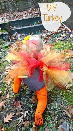 DIY {no sew} Turkey Costume