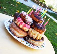 Polkadots on Parade: Donut Birthday Cake!