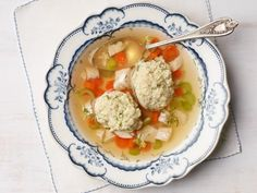 Get Matzo Ball Soup Recipe from Food Network