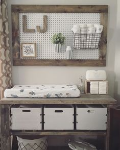 Image result for baby nursery pegboard organization tips