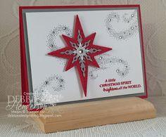 Merry Monday Challenge #213 using Stampin' Up! Star Of Light  the Starlight Thinlits Dies. Debbie Henderson, Debbie's Designs.