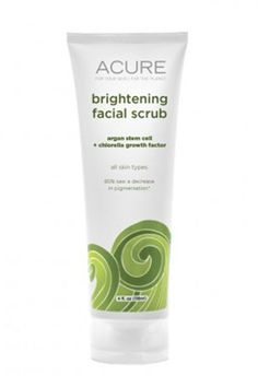 Best scrub ever! With sea kelp and lemon peel (to banish flakes), green clay (to decongest pores), and plant-based stem cells (to boost cell turnover), Acure Brightening Facial Scrub makes skin visibly fresher and clearer by the time you pat dry. Acure Organics, Green Clay, Natural Exfoliant, Argan, Facial Scrubs, Beauty Photos, Beauty Tips, Beauty Secrets, Clean Beauty