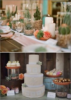 Cactus Wedding themarriedapp.com hearted <3