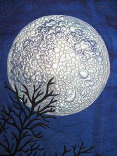 """I See the Moon"", quilting detail, Susan Brubaker Knapp:"