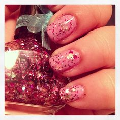 """Daily Lacquer """"Tink Pink""""  over Barry M """"Berry IceCream"""""""