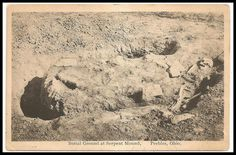 This may be a skeleton from one of the mounds excavated at Ohio's Serpent Mound