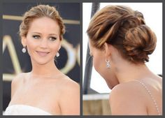 chignon ~ Jennifer-Lawrence-Oscars-2013-hair-updo