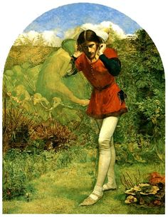 "Page: Ferdinand Lured by Ariel Artist: John Everett Millais Start Date: 1849 Completion Style: Romanticism Genre: literary painting Technique: oil Material: panel Dimensions: x cm Gallery: Private Collection Tags: William-Shakespeare-""The-Tempest"" Dante Gabriel Rossetti, William Morris, William Turner, Southampton, John Everett Millais, Thomas Gainsborough, William Hogarth, John William Waterhouse, William Shakespeare"