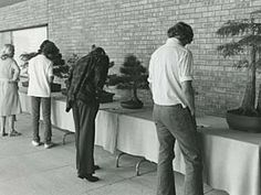 1977- First Bonsai Show    The Midwest Bonsai Society hosted its first Mid-America Bonsai Show and Sale at the Garden.