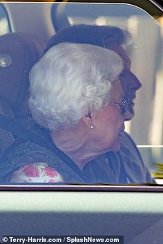 Dressed in a white top adorned with pink roses beneath a green gilet, the casual Queen was seen in the driving seat of her Range Rover with two male companions Highland Pony, Norfolk House, Royal Monarchy, Surprise Visit, Princess Anne, Prince Philip, Queen Elizabeth Ii, Show Horses, Range Rover