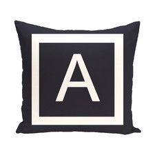 Amsterdam Monogram Down Throw Pillow