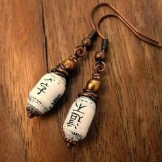 Dangle Earrings Copper and Pearl with Handmade by artspell on Etsy, $16.00 by lucile