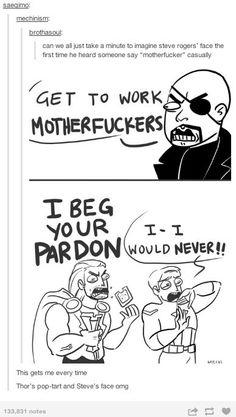 Steve and Thor react to Nick Fury: