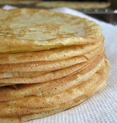 Makes about 8 servings when crepes are made very thin. Eat on their own or pair with a protein or sauteed veggies. Make up a whole batch so you can have them in