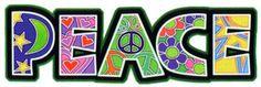 Cosmic Peace Text Sticker