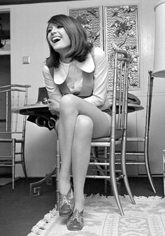 Sandie Shaw, aka the barefoot pop princess of the 1960s