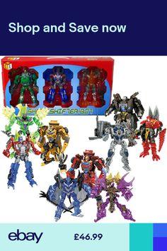 72584ad850287 6.5 Shapeshifter-Bot Set of 3 Transforming Robots Dinosaur Car Truck Kids  Toy