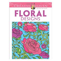 Floral Designs Coloring Book. Unique Adult Coloring Books, office toys, supplies, and products at www.officeplayground.com use code P10 for 10% off