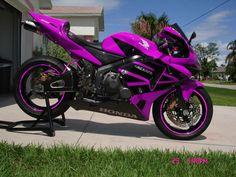 Trendy Chopper Motorcycle Honda Posts Ideas Source by Custom Sport Bikes, Chopper Motorcycle, Purple Motorcycle, Cool Motorcycles, Honda Motorcycles Cbr, Hot Bikes, Dirtbikes, Biker Chick, Super Bikes