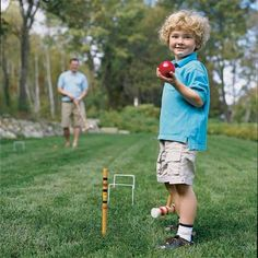 13 DIY Backyard Games and Play Structures- what to do with my new football field size yard.