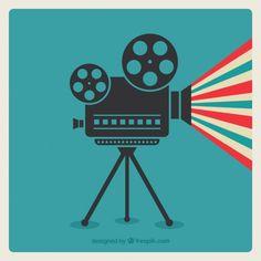 Cinema camera Premium Vector