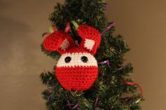 Décoration de sapin de Noël lapin au crochet, €10.00