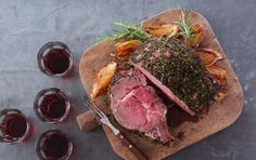 Standing Rib Roast with Caramelized Onions