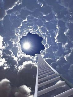 Jeder Gedanke ist eine wichtige Sprosse auf der Himmelsleiter: Entweder hilft sie uns hinaufzukommen oder sie zwingt uns hinunterzusteigen