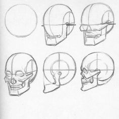 Human skull structure AndrewLoomis howtodraw how to draw art sketch lesson tutorial draw drawing artist instaart arte # Anatomy Sketches, Anatomy Drawing, Anatomy Art, Art Drawings Sketches, Human Drawing, Drawing Artist, Drawing Faces, Drawing Techniques, Drawing Tutorials