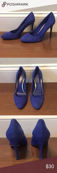 NWOT Blue suede Ralph Lauren pumps NWOT blue, suede, round toe pumps from Lauren Ralph Lauren. Very chic and comfortable! Lauren Ralph Lauren Shoes Heels