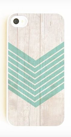 Wood Design Geometric iPhone Case in Aquamarine by On Your Case