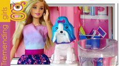 Barbie y su Perrita que cambia de color - juguetes Barbie en español