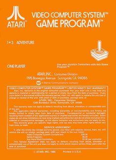 Atari 2600 - Adventure (1979) CX-2613 - Back