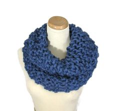 Chunky Cowl Knit Scarf Outlander Inspired  Hand by ArlenesBoutique