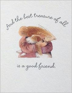 And the best treasure of all is a good friend ~ Marjolein Bastin
