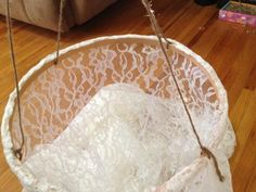 Being Crafty | DIY lace canopy |