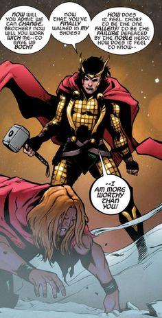 Agent of Asgard - Loki, God of Thunder. Due to the effects of the inversion in Axis, Loki becomes a good guy (kind of). Loki Thor, Loki Laufeyson, Loki And Sigyn, Loki Marvel, Tom Hiddleston Loki, Loki Avengers, Loki Wallpaper, Wallpaper Backgrounds, Lady Loki
