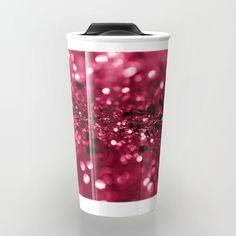 Red Summer Love Glitter #2 #shiny #decor #art #society6 Travel Mug by anitabellajantz | Society6