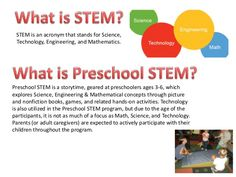 STEM Storytime: Preschool Fun with Science, Technology, Engineering, and Math by Westerville Library via slideshare
