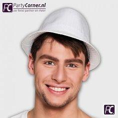 Witte glitter hoed