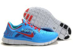 cheapshoeshub com Cheap Nike free run shoes outlet, discount nike free shoes  Mens Nike Free Run 3 Blue Glow University Red Pro Platinum Shoes
