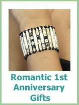 romantic 1st anniversary gifts - lots to choose from