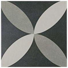 Merola Tile Twenties Petal 7-3/4 in. x 7-3/4 in. Ceramic Floor and Wall Tile-FRC8TWEP - The Home Depot