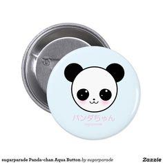 sugarparade Panda-chan Aqua Button