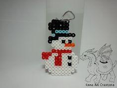 Snowman perler beads by Kame-ami on deviantART