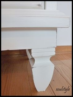 Step by Step on painting old dressers, staining the tops, and even add…